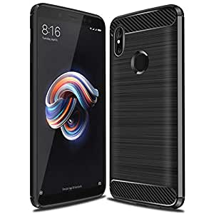 SHELE Shockproof Armor TPU Phone Back Cover Case 3D 360 Degree Protection Mobile Phone Cover for Xiaomi Redmi Note 5 Pro (Black)