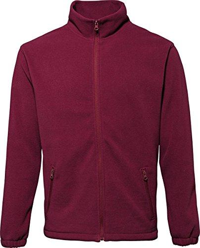2786Herren Oberbekleidung Warm Winter Coat 2Paket Cadet Kragen Full Zip Fleece Jacke Rot - Burgunderrot