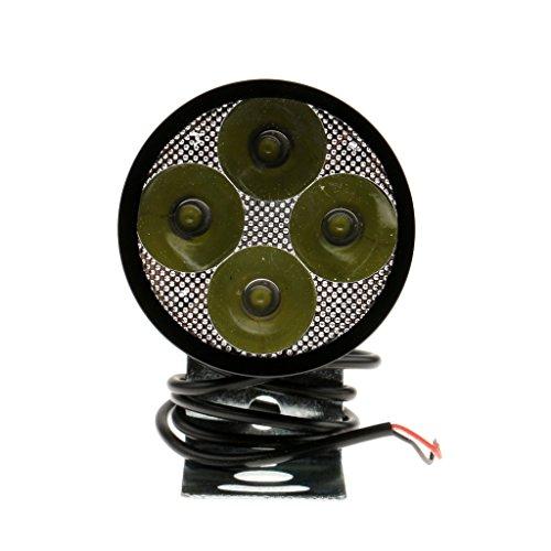 Preisvergleich Produktbild MagiDeal Motor LED Weiß 20W LED Motorrad Aluminium Wasserdicht Scheinwerfer Spot-Licht Mit Klemme Schwarz