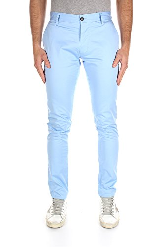Pantaloni Armani Jeans Uomo Cotone Celeste C6P15EB13 Celeste 48EU - 32US Slim
