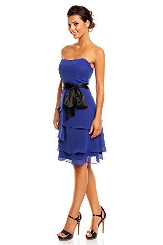 Kleid kurz blau chiffon