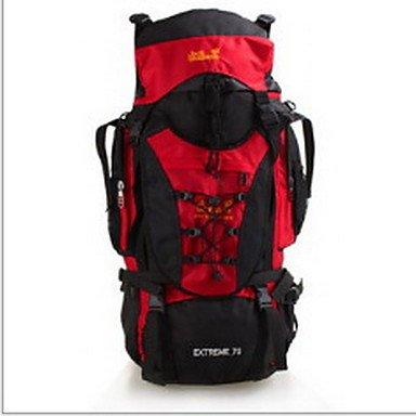 70 L Rucksack Camping & Wandern Draußen Wasserdicht tragbar Multifunktions Gelb Grün Rot Blau Nylon Black
