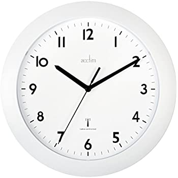 Cadiz Silver Radio Controlled Wall Clock Amazoncouk Office