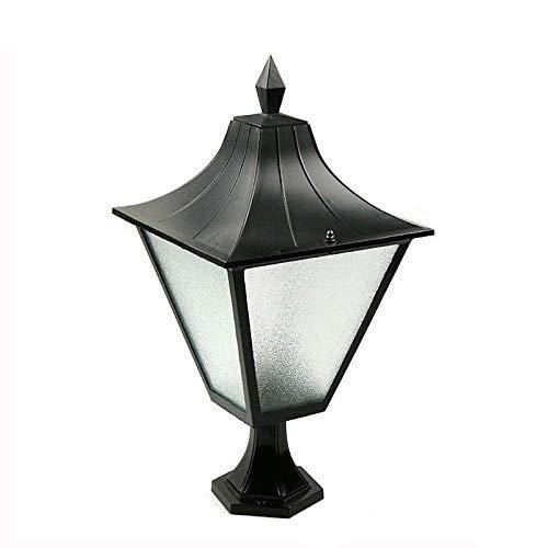 Klar Abgeschrägten Glas Licht (Anad Ein-Licht-Laterne für den Außenbereich mit klaren, abgeschrägten Glasscheiben, schwarzer Oberfläche)