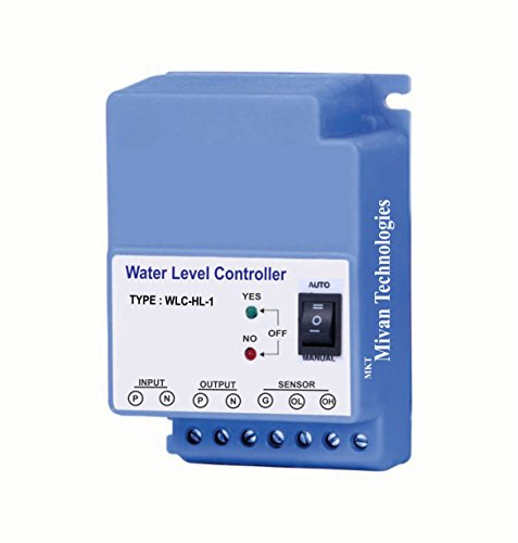 Mivan Technologies Fully Automatic Water Level Controller and 3 Sensors, with 1 Year warranty (supply 230VAC),Blue