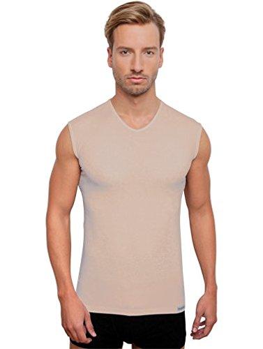 Schaufenberger Unsichtbares ärmelloses Unterhemd in Hautfarbe V-Neck, Hautfarbe, Größe XXL -