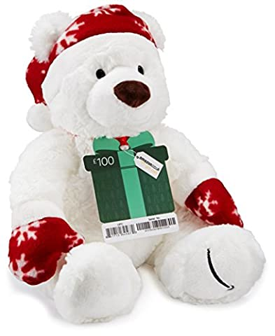 Amazon.co.uk Gift Card - With a Free Teddy Bear - £100 (Christmas)
