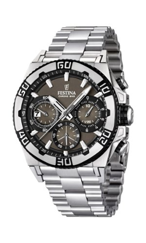 Festina Herren-Armbanduhr XL Tourchrono 2013 Chronograph Quarz Edelstahl F16658/4