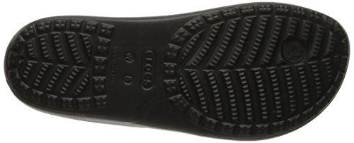 Crocs Wn-Platform Flip, Sandales Bout Ouvert Femme Noir (Black)