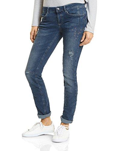 Street One, Jeans Slim Donna Blau (Fancy Decorated Blue Wash 11309)