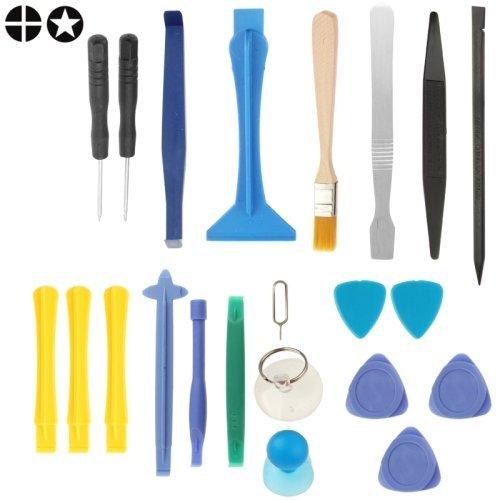 ILS - Set Kit composto da 22 Attrezzi per riparazione Ricambio Smartphone e Tablet
