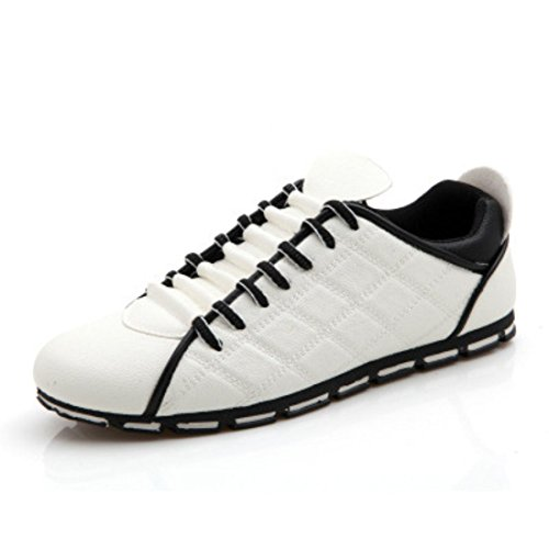 Men's High Quality Fashion Style Leather Casual Shoes white