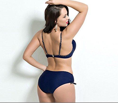 Maillots De Bain Mme, Mode Sexy Bikini Noir, Grande Taille Steel Prop Rassembler Natation Suit ( couleur : A , taille : 6XL ) A