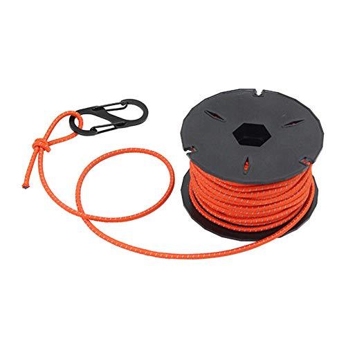 Beudylihy Elastisches Seil Elastic Rope Reflektierende Schock Bungee Cords Elastische Seile mit Multifunktionalen Spool Tool für Outdoor-Camping Wandern