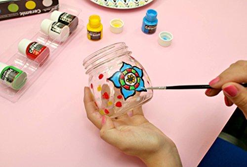 MONT MARTE Pintura para Porcelana y Cerámica - 6 piezas x 20ml - Colores cerámicos resistentes al agua - Pinturas de alta calidad - Ideal para Pintar Vasos, Jarrones y Tazones
