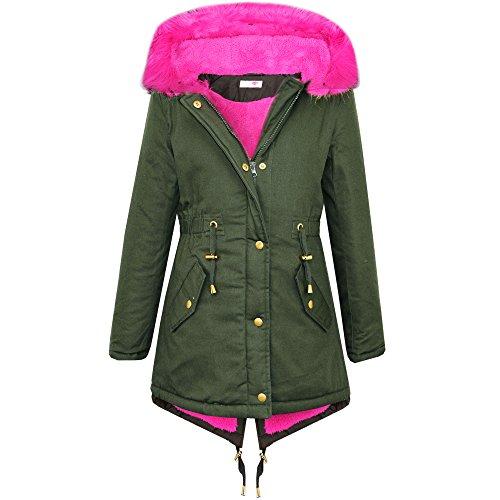 Minx -  Giacca  - ragazza Pink Fur Hood 11-12 Anni