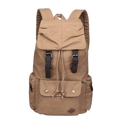 Imagen de fafada vintage lienzo  para hombre  casual bolsas de viaje senderismo bolsos satchels kahki size 30x16x45cm/11.81x6.30x17.72in