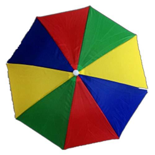 Fat Bear Winddichter Kopf-Regenschirm Hut für Erwachsene, faltbar, Brolly Hut mit Hände frei Stirnband für Damen & Herren, Golf, Angeln, Gartenarbeit, Fotografie, Wandern, lustiges Geschenk MC2 (Bear Kopf Kostüm)