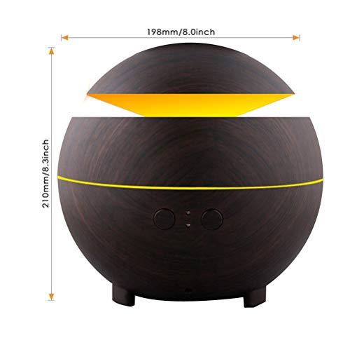 JIAHE 600 ML de Aceite Esencial Difusor de Aroma/humidificador de Vapor frío ultrasónico/purificador de Aire 7 Colores llevó luz de Noche de Oficina en casa,A