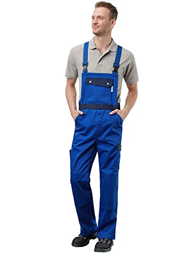 PIONIER WORKWEAR Herren Latzhose Active Style in marineblau (Art.-Nr. 2686) marine/royal,Größe 58