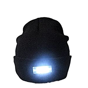 41wlgXxyX9L. SS300  - Mu&Nin Running hat, 5 LED Flashlight Keep Warm Light Beanie Hands Free Unisex Hat Cap for Outdoors Sports,Hunting,Camping,Grilling,Jogging,fishing,Handyman Working