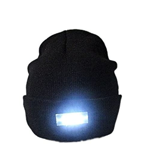 41wlgXxyX9L. SS500  - Mu&Nin LED Lighted Beanie Hat, Hands Free Headlamp Cap,Unisex Winter Warmer Knit Hat with Light for Men,Women