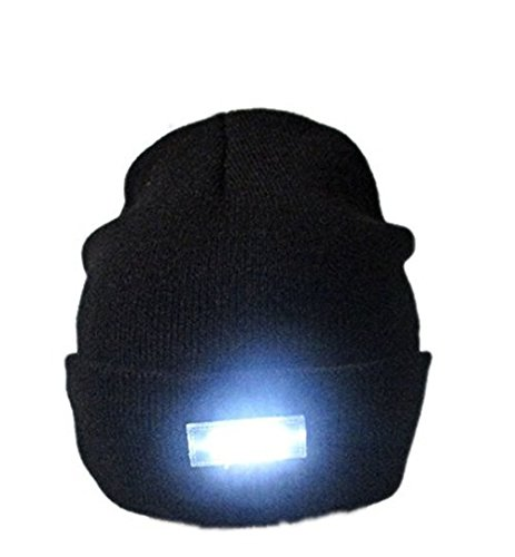 41wlgXxyX9L - Mu&Nin LED Lighted Beanie Hat, Hands Free Headlamp Cap,Unisex Winter Warmer Knit Hat with Light for Men,Women