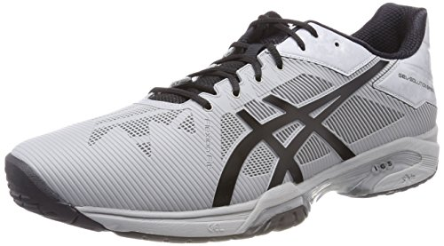 ASICS Gel-Solution Speed 3, Scarpe da Tennis Uomo, Grigio (Mid Grey/Black), 46.5 EU