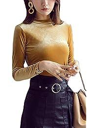 HhGold Camiseta de Terciopelo para Mujer Invierno 6669c0a219d0