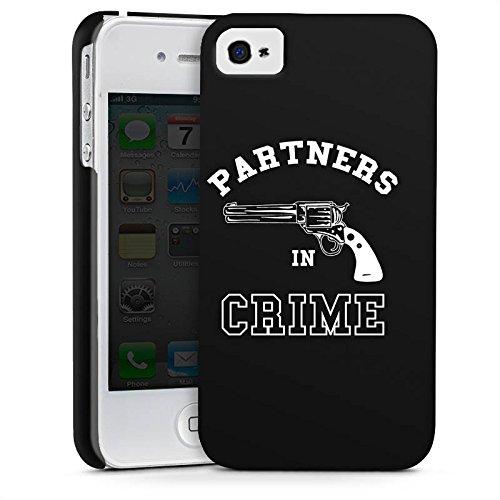 Apple iPhone X Silikon Hülle Case Schutzhülle Pistole Partner freundschaft Premium Case glänzend