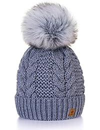 Winter Cappello Cristallo Grand Pom Pom Invernale Di lana Berretto Delle  Signore Delle Donne Beanie hat 849b289c0ba9
