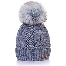 Winter Cappello Cristallo Grand Pom Pom Invernale Di lana Berretto Delle  Signore Delle Donne Beanie hat d5b53fa556e3
