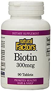 Natural Factors, Biotine, 300 mcg, 90 Plaquettes