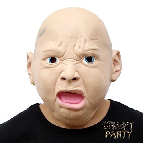 Böse Kostüm Kind Das (CreepyParty Deluxe Neuheit-Halloween-Kostüm-Party-Latex-menschliche Hauptmaske Masken Böse)