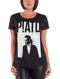 18e580fc Dames: kleding Official PANIC AT THE DISCO Outline Name Womens T Shirt  Brendon Urie Rock Band