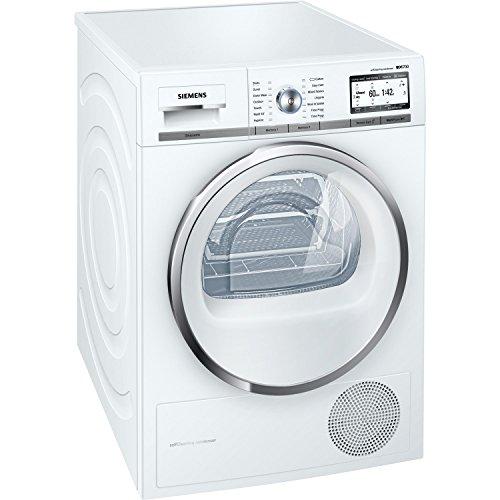 Siemens WT4HY790GB iQ700 iSensoric 9kg Freestanding Heat Pump Condenser Tumble Dryer White