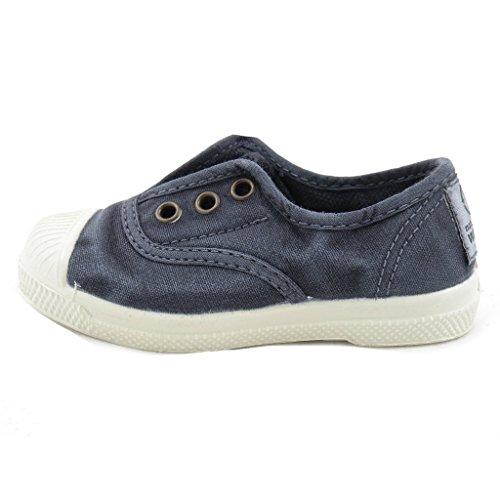 Natural World Chaussures en Coton avec Fond de Caoutchouc Unisex 470E677 Bleu Taille: 22