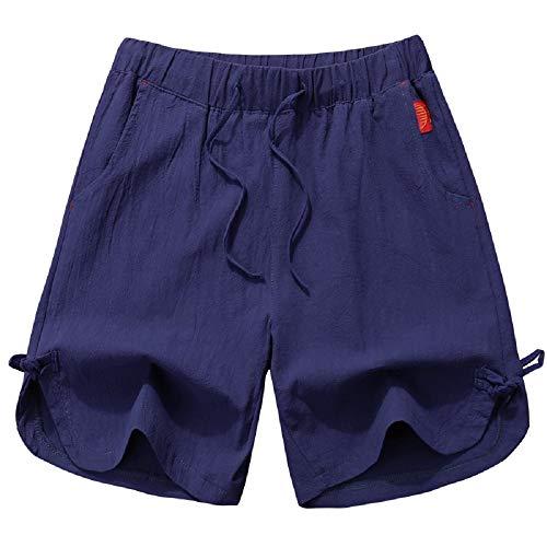Fuweiencore pantaloni estivi nuovi pantaloni corti da estate viola pantaloni da spiaggia aderenti da uomo in cotone bianco pantaloni corti da jogging (colore : viola, dimensione : l)