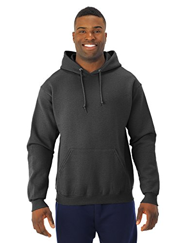 Adult 8 oz. NuBlend� Fleece Pullover Hood BLACK HEATHER S (Jerzees-baumwolle-pullover)