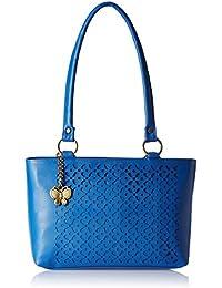 Butterflies Women's Shoulder Bag (Laser Blue) (BNS 0539LBL)