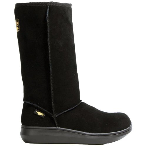 Rocket Dog Sugardaddy Black Suede New Womens Hi Winter Shoes Boots-39