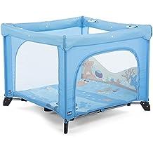 Chicco Open Box - Parque de juegos infantil con alfombra extraíble, 0-4 años, color azul o verde