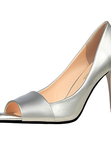 GS~LY Da donna-Tacchi-Formale-Tacchi / A punta / Aperta-A stiletto-Finta pelle-Nero / Viola / Rosso / Argento / Grigio / Verde chiaro gray-us6 / eu36 / uk4 / cn36