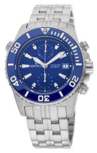 KRONOS - K300 Automatic Chronograph Ceramic Blue 736N2.865 CHR - Reloj Diver de Caballero automático...