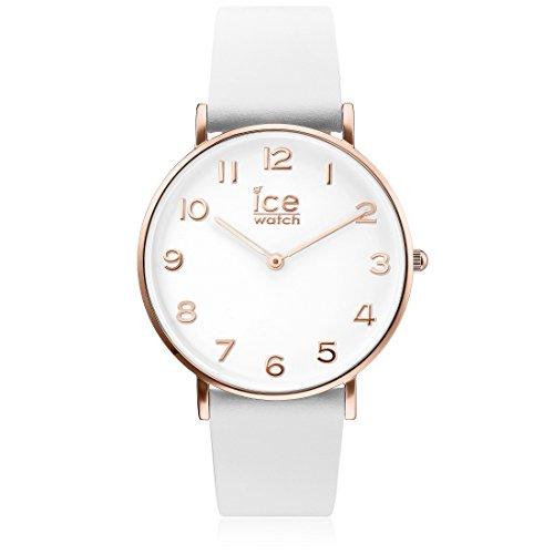 Ice-Watch - CITY tanner White Rose-Gold - Montre blanche pour femme avec bracelet en cuir - 001505 (Small)