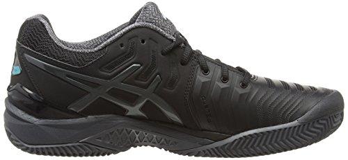 Asics Gel-Resolution 7 Clay, Chaussures de Tennis Homme Noir (Black/dark Grey/lapis)