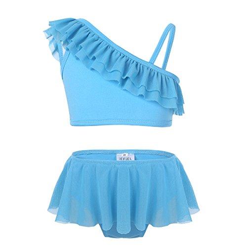 962fd2c526 IEFIEL Bébé Enfant Fille Maillot de Bain Tankini Épaule Nu Maillots de  Natation à Volants Bikini