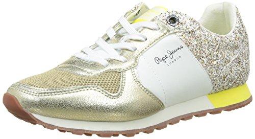 Pepe Jeans London - Scarpe da Ginnastica Basse Donna, Oro (Gold), 36 (EU)