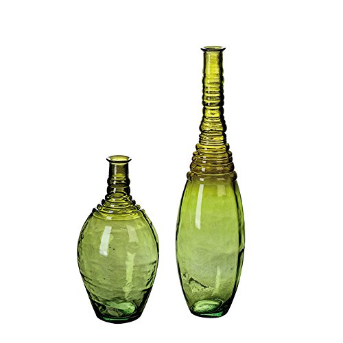 Casablanca Vase vert Bornéo/hl. Fond Vert H.60 cm 100% recycle Verre, fabrication européenne