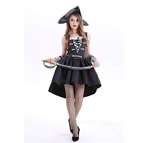 Yunfeng Hexenkostüm Damen Halloween Pirat Cosplay Kostüm Kostüm Thema Parteikostüm Spielleistung Kostüm